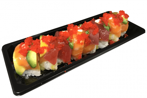 Foto Rainbow dragon roll